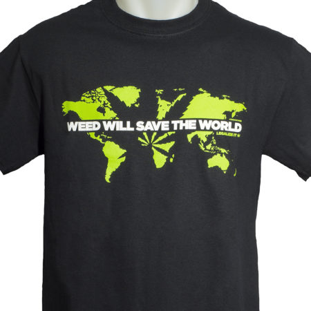 weed will save the world 420 t-shirt